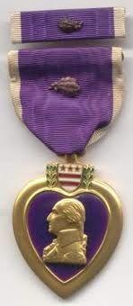 Purple Heart with Oak Leaf Cluster