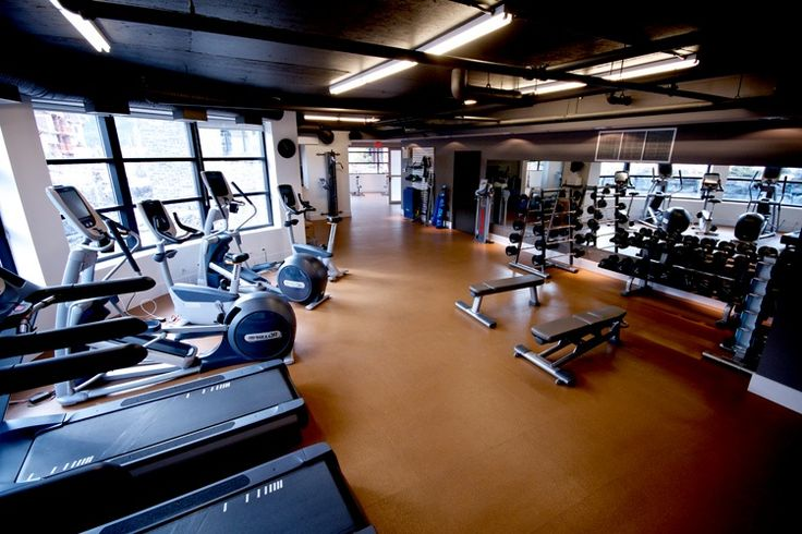 State of the art gym at One Wellness & Spa at Solara Resort, Canmore AB