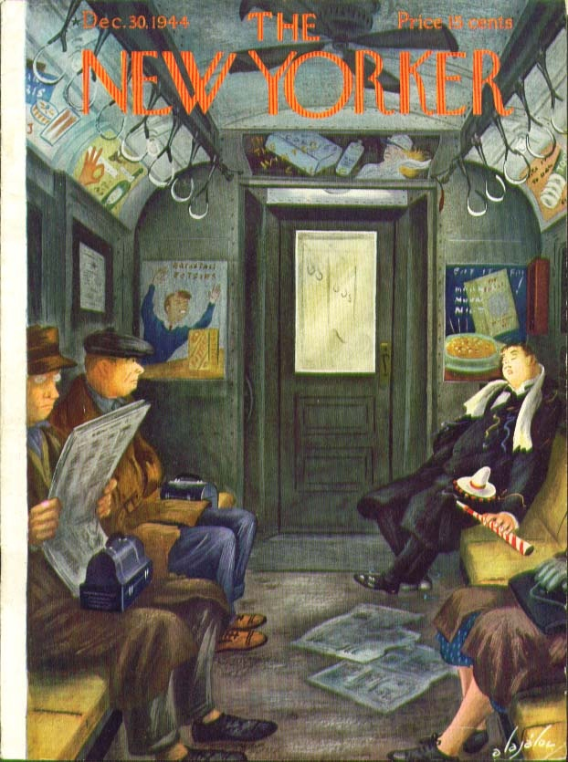 New Yorker Cover Constantin Alajalov New Year S Eve