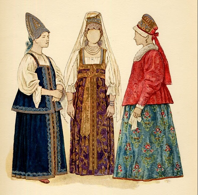 Russian & Ukrainian traditional costumes