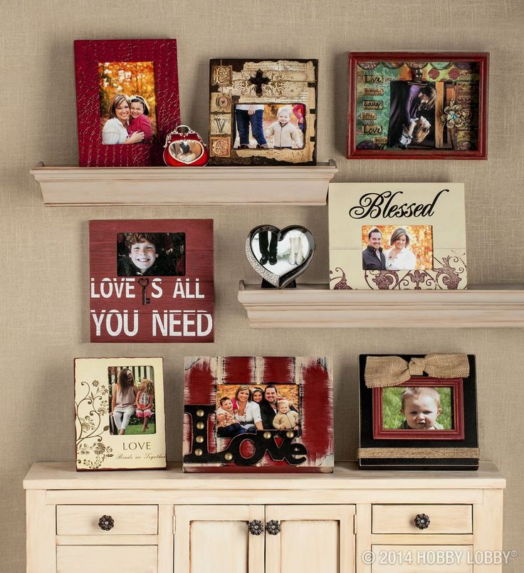 Beautiful Photo Display With Hobby Lobby Frames