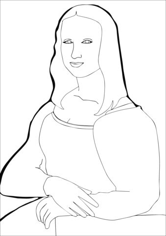 Mona Lisa by Leonardo Da Vince coloring page from Leonardo da Vinci category. Select from 27569 printable crafts of cartoons, nature, animals, Bible and many more.