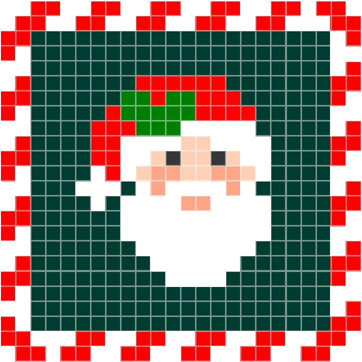 Kerstman – zuurstok | Pixel Party
