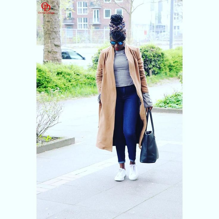 Coat weather all over again       DIY Shirt DIY Camel coat DIY Clutch #oriwodesign #hamburg #slowfashion #headwrap #africanblogger #blogger_de #ankaraheadwrap #turban #turbanista #converse #ginghamstyle #teamnatural #weekendoutfit #outfitpost #outfitinspiration #casual #spring #camelcoat #springfashion #weekendoutfit  #weekendvibes #diy #teamlocs #ginghamtrend #diyshirt #diytop #handmade #diycoat #diyblogger #gingham #fashionblogger_de