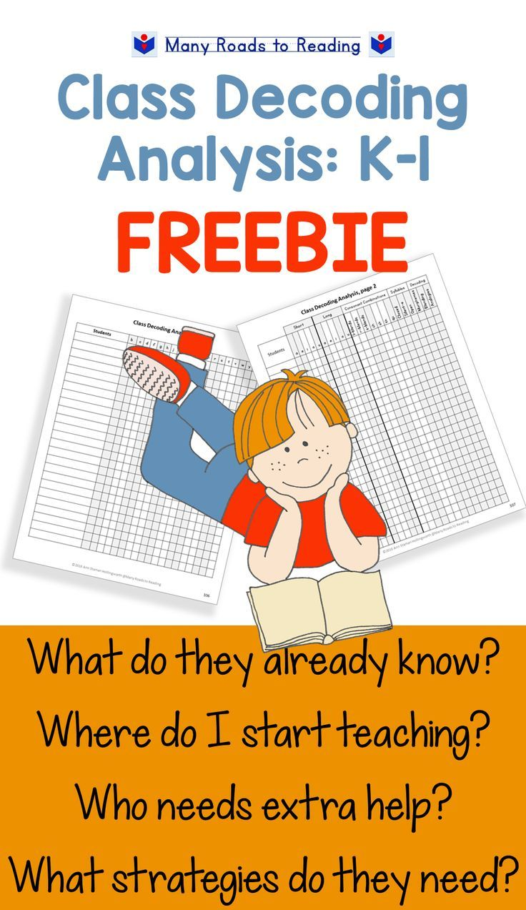 Class Decoding Analysis K-1 FREEBIE. Chart your students\' knowledge ...