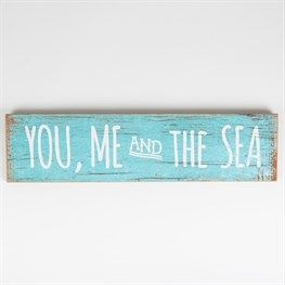 You, Me & The Sea Coastal Chic Driftwood Sign                                                                                                                                                                                 More