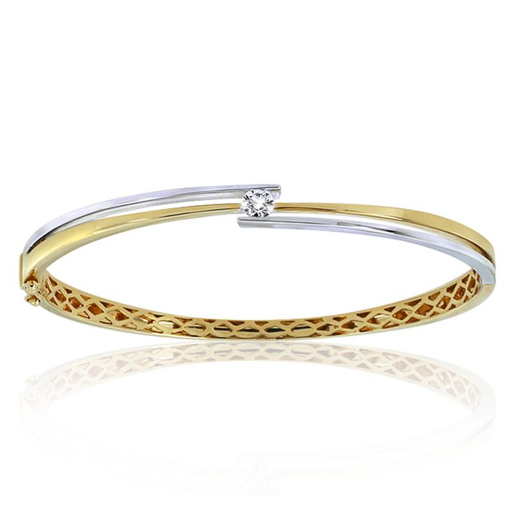 Celebrate life and love with the [ORO]3 Present Moment diamond bangle. Crafted in 18ct white and yellow gold.