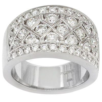 wide diamond bands - Google Search