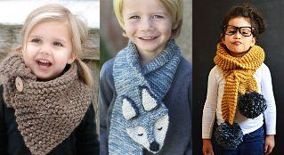 10 calientitas bufandas para niños