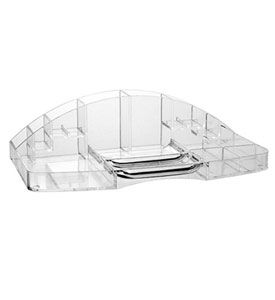 Photo Of Keep your bathroom cabinets and counter top neat and orderly with this Large Acrylic Vanity Organizer This organizer has partments