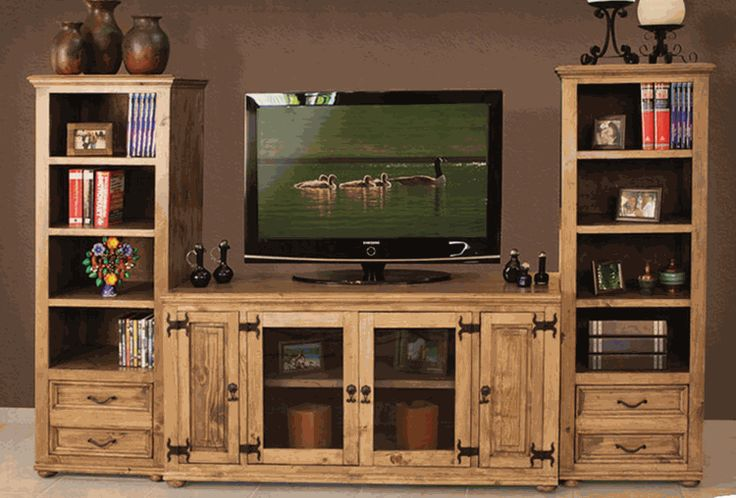 rustic entertainment centers | Laredo Rustic Entertainment Media Center