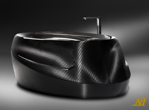 If It's Hip, It's Here: Corpo Celeste. Limited Edition Luxury Carbon Fiber Bathtub, the N°1, by Corcel.