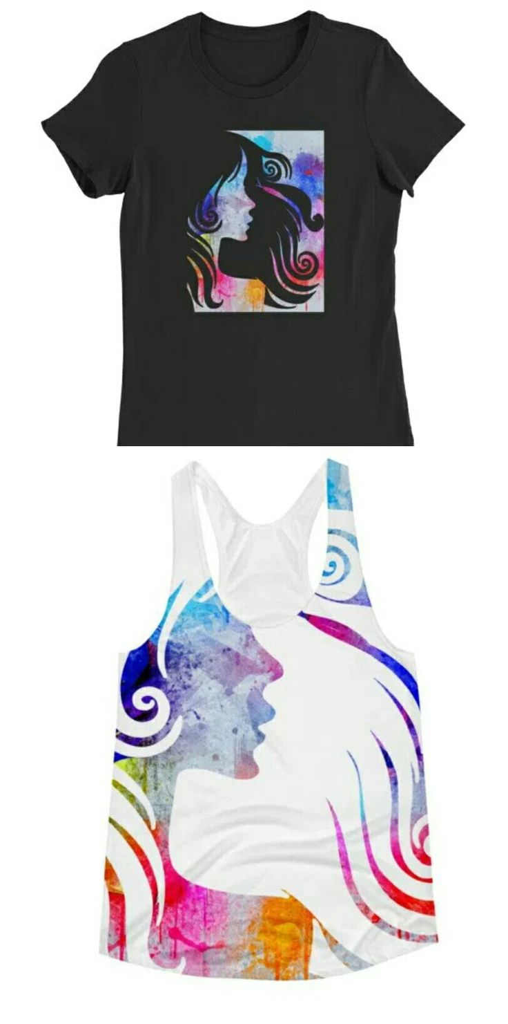 Get these watercolor silhouettes!  Tags: #fashion #girl #silhouette #shirt #tee #top #tank #tanktop #style #street #streetwear #streetstyle