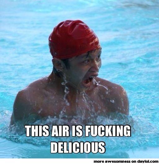 When I go swimming