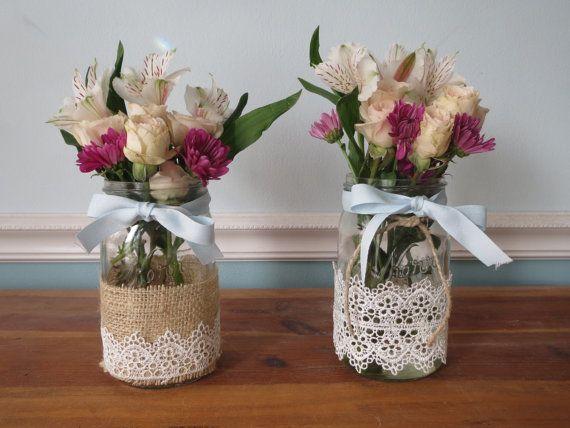 Mason Jar Decoration by RusticBella on Etsy, $10.00
