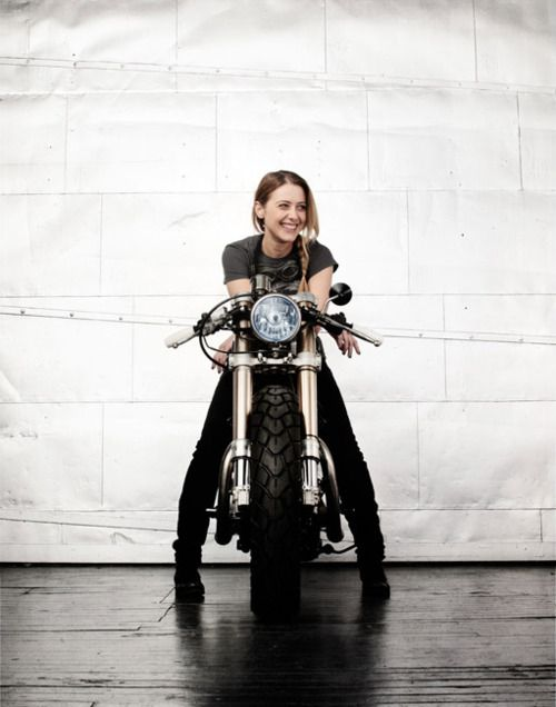 Somehow I'd imagined I'd look like this on my first motorcycle... #girlsandmotors #caffeveloce #fast