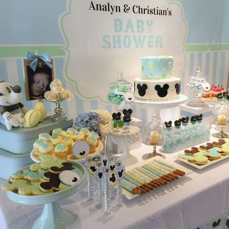 Charming Baby Mickey Baby Shower Party Ideas