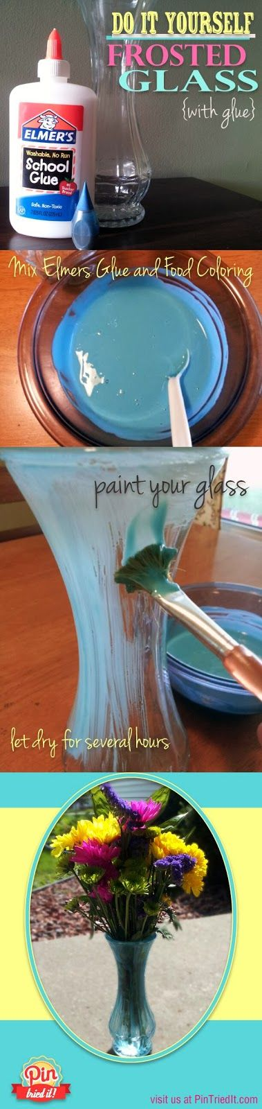 Frost Glass with Glue