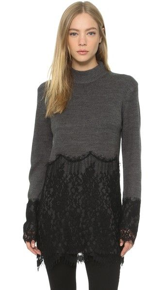 ENGLISH FACTORY Lace Sweater
