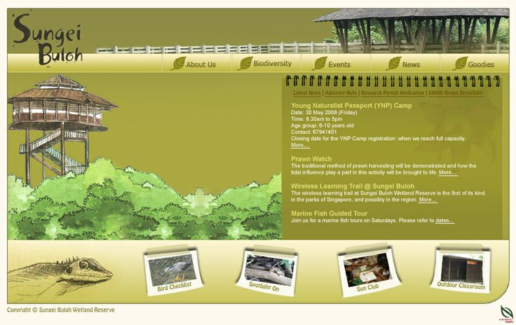 NParks Web Layout - Done at FMDS