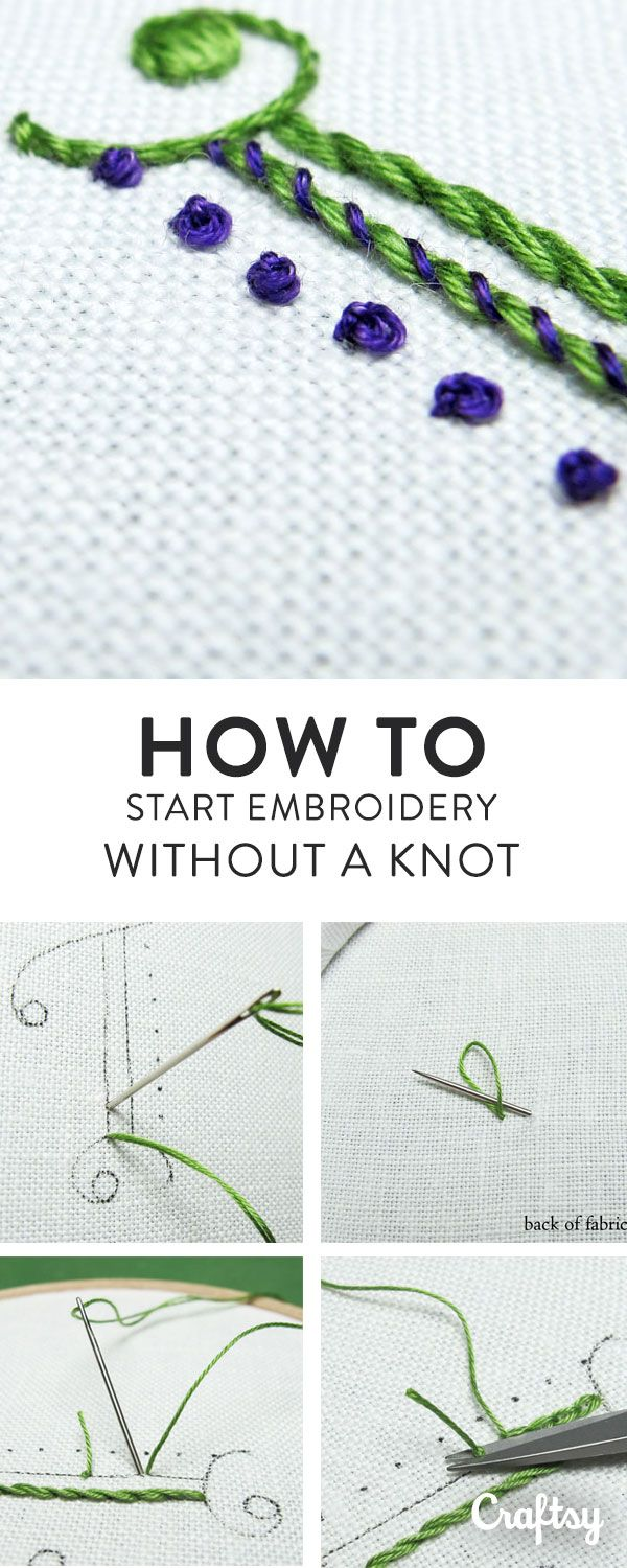 Here are some quick ways to begin embroidery threads securely, without leaving knots on the back of your work.