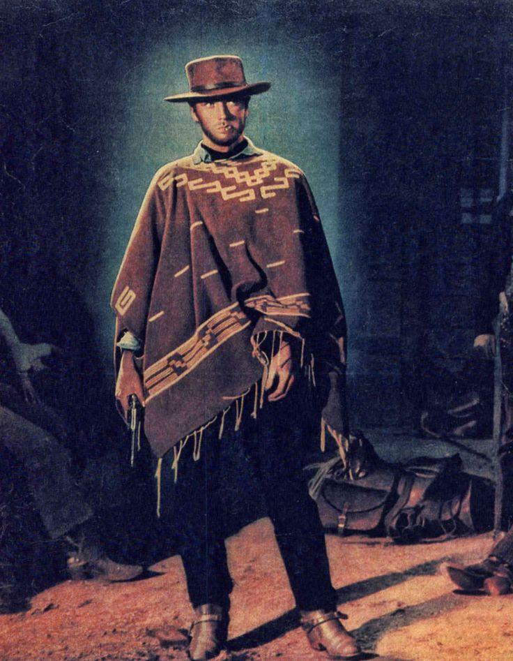 """Clint Eastwood en """"Por un puñado de dolares"""", 1964"""