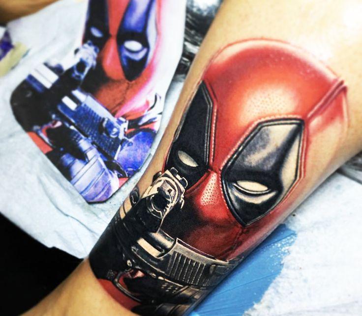 Deadpool tattoo by Nikko Hurtado
