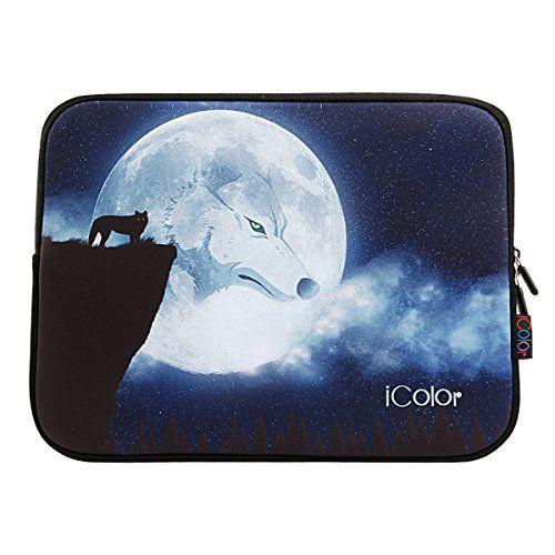 "Wolf Moon iColor 15""-15.6"" inch Laptop Neoprene Sleeve Case Bag Cover for Apple Macbook Pro Dell Alienware 15 R2 Lenovo Flex 3 15 Toshiba HP Dell Lenovo Samsung(IPS15-006)"
