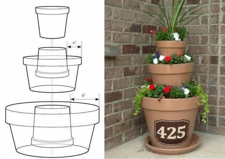 10 erstaunliche Blumenturm / Tipsy Pot Planter Ideen! #blumenturm #erstaunliche… – Garten