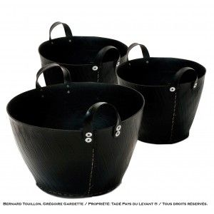 Large recycled tyre basket CABAS. Designed by Tadé - Pays du levant