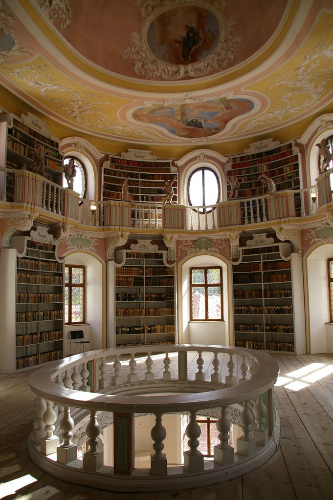 Old library in Füssen, Germany - OMG this is it. THIS is the Beauty & the Beast library I must have in my own home. THIS.