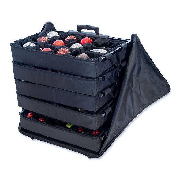5 Tray Adjustable Telescoping Ornament Storage Bag - Tree ...