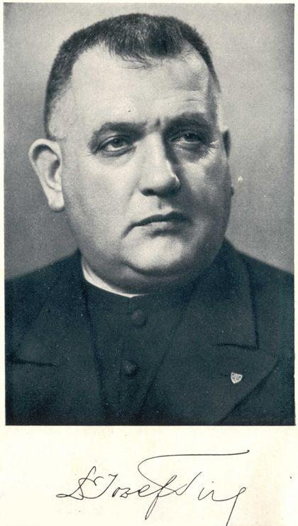 ThDr. Jozef Tiso (* 13. október 1887, Veľká Bytča (dnes Bytča) – † 18. apríl, 1947, Bratislava, popravený) bol rímskokatolícky kňaz, poslanec česko-slovenského parlamentu, člen česko-slovenskej vlády a jediný prezident prvej Slovenskej republiky, vtedajšieho satelitného štátu Tretej ríše. Po vojne bol odsúdený za vlastizradu a popravený.