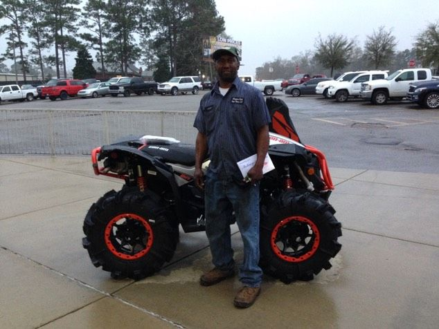 Thanks to John Morgan from McComb MS for getting a 2016 Can-Am Renegade Xmr 1000R at Hattiesburg Cycles