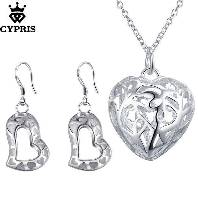 CYPRIS оптовая торговля розничная торговля набор свадьба свадьбу ювелирные наборы сердце мода ювелирные изделия из…