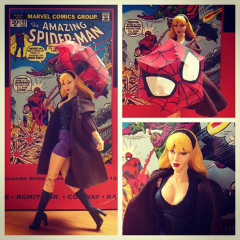 Better look at her umbrella I made for her inspired by jscottcampbells Gwen Stacy #marvel #marveltoys #marvelcomics #marvellegends #marveltoypictures #gwenstacy #custom #customtoy #customtoys #customactionfigure #custommarvellegends #spidey #spiderman #theamazingspiderman #thespectacularspiderman