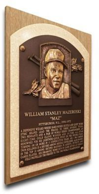$89.99 - MLB Pittsburgh Pirates Bill Mazeroski That's My Ticket Hall of Fame Canvas Plaque - Turn your office or man cave into your own Cooperstown with the MLB Bill Mazeroski That's My Ticket Hall of Fame Canvas Plaque. Perfect for any sports memorabilia collector, this plaque features the face of your favorite MLB player and a brief write-up.