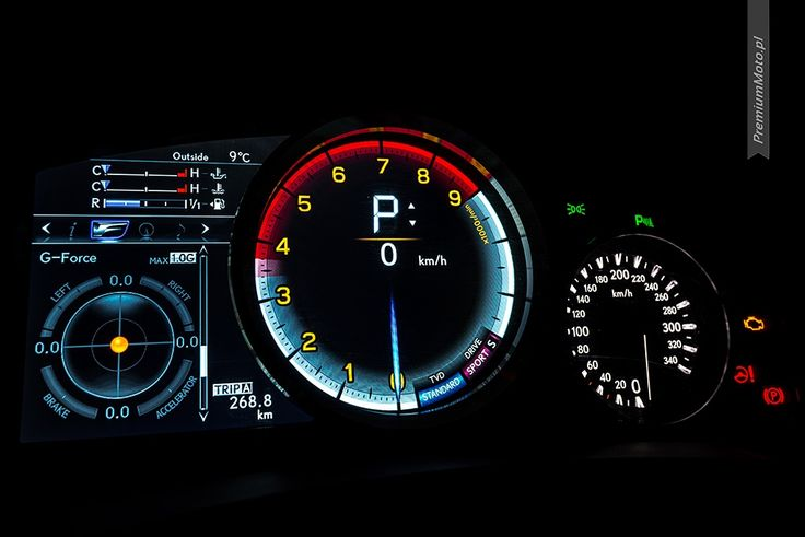 Lexus RC-F instrument cluster in sport mode. #lexus #rc-f