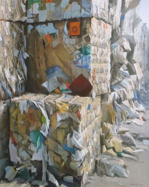 "Saatchi Online Artist Andrea Mancini; Painting, ""#1260 paper"" #art"