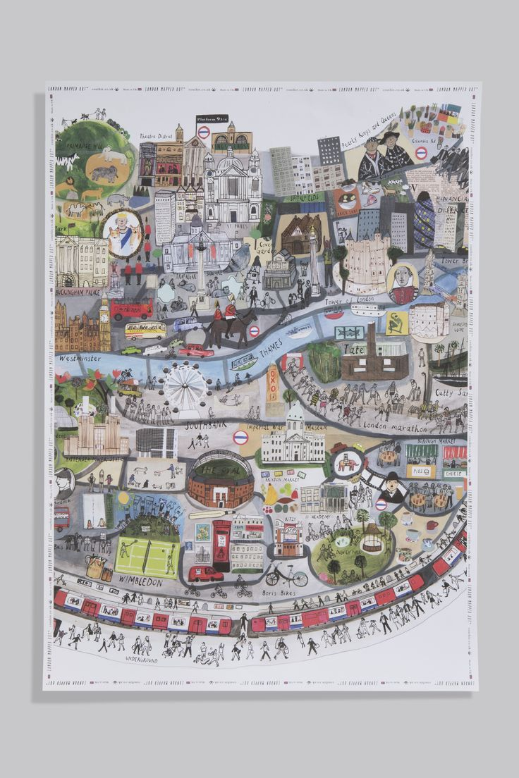 London wrapped up with London Mapped Out wrapping paper. Gorgeous.