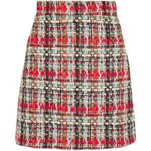 Gucci Checked tweed mini skirt