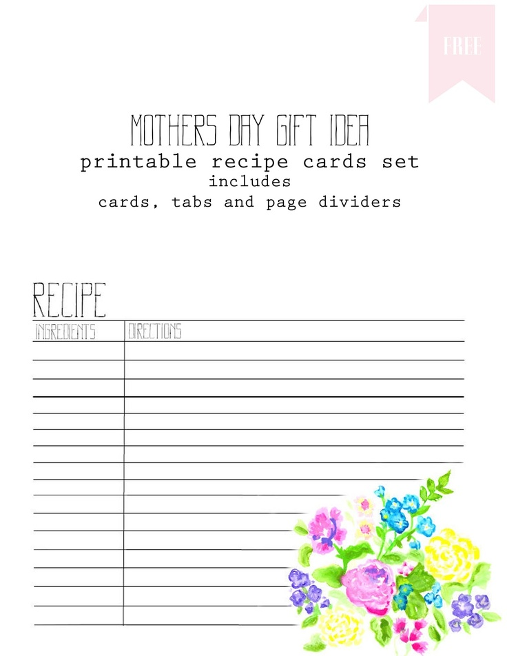 Best Recipe Cards Images On   Printable Recipe Cards