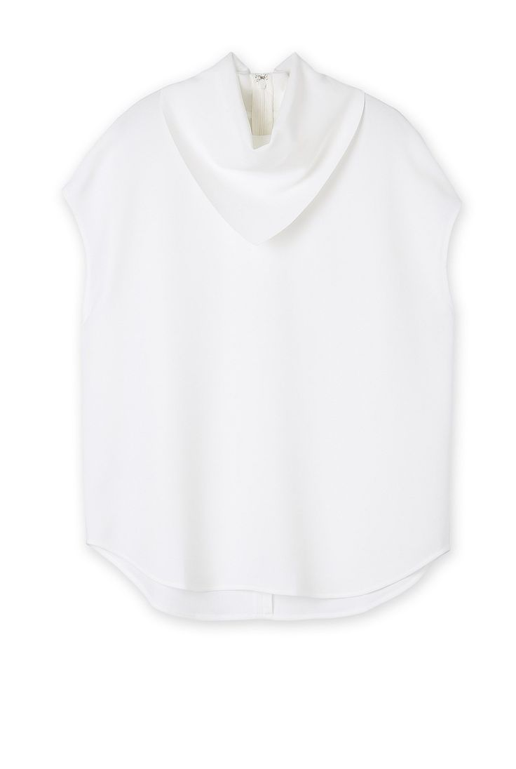 Country Road - white scarf neck top