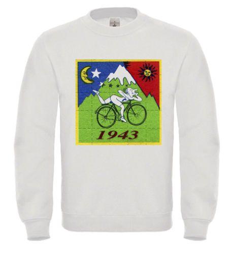 BICYCLE DAY BIKE TRIP LSD ACID SWEATSHIRT SWEATER JUMPER DR ALBERT HOFMANN DTG3 | eBay