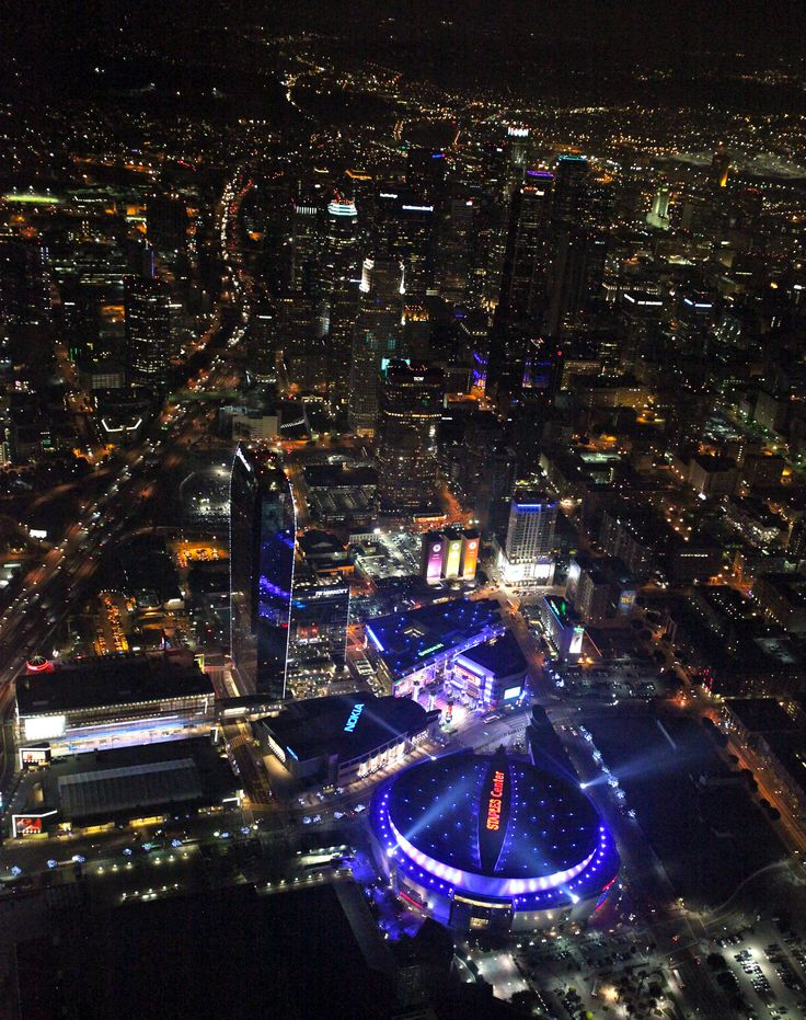 View of Downtown LA - Staples Center/L.A. LIVE and the #JWMarriott Los Angeles as you fly into LAX.  http://celebhotspots.com/hotspot/?hotspotid=23837&next=1