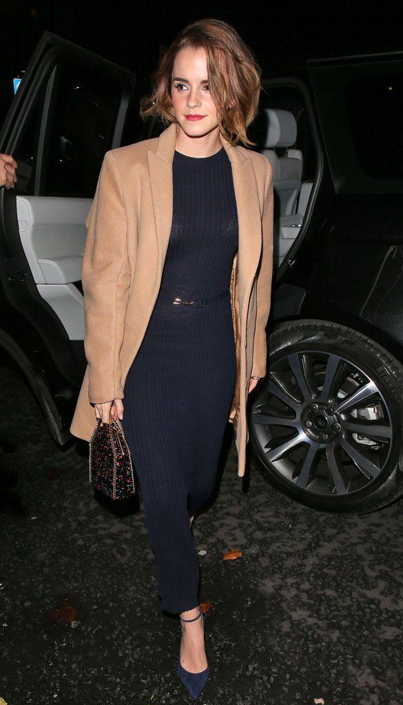 Emma Watson aparece de visual novo com cabelo mais curto
