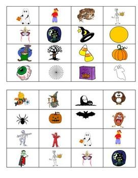 halloween bingo game - Preschool Halloween Bingo