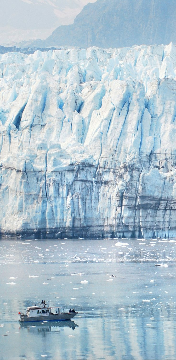 Cruise to Margerie Glacier in Glacier Bay Alaska. You can see just how huge this…