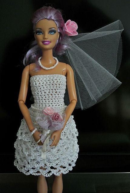 139 besten Barbie Wedding Crocheted Bilder auf Pinterest | Häkeln ...