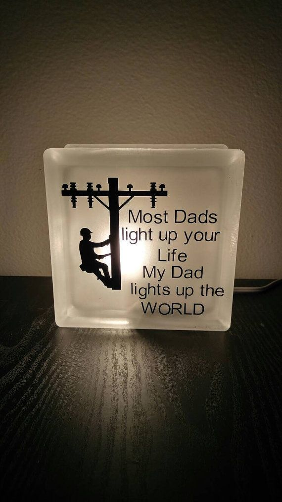 Lineman Daddy nightlight by CrackerChild on Etsy